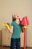Maid and household chores Royalty Free Stock Photos