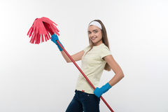 Maid and household chores Stock Image