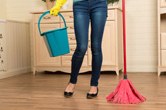 Maid and household chores Royalty Free Stock Images