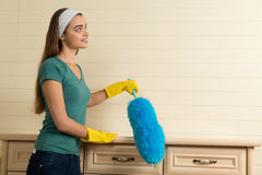 Maid and household chores Royalty Free Stock Photo