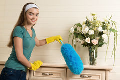 Maid and household chores Stock Photo
