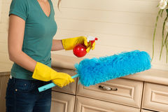 Maid and household chores Stock Photos