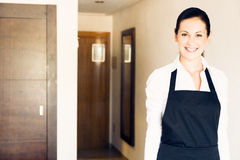 Maid Making A Hotel Room Stock Image
