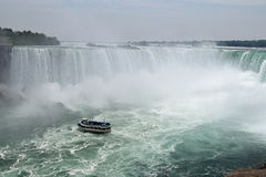 Maid Of The Mist, Horseshoe Fall Niagara Falls Ontario Canada Stock Image