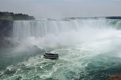 Maid Of The Mist, Horseshoe Fall Niagara Falls Ontario Canada Stock Images