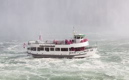Maid of the Mist Beside the Horseshoe Falls