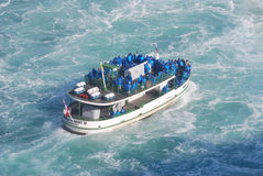 Maid of the Mist - Niagara Falls. The tour boat Maid of the Mist approaching the base of Niagara Falls in the summer of 2007 Stock Photography