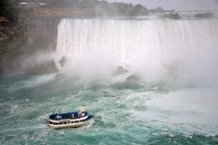 Maid of the Mist, Niagara Falls. USA and Canada royalty free stock images