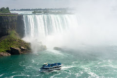 Maid of the Mist in Niagara Falls in Canada Stock Photos