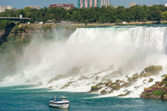 Maid of the Mist in Niagara Falls in Canada Stock Image