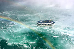 Maid of the Mist Tour Boat in Niagara Falls Royalty Free Stock Photos