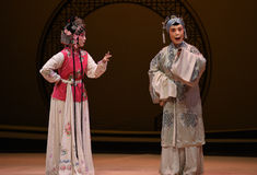 "The maid told the old lady-Kunqu Opera ""the West Chamber"" Stock Image"
