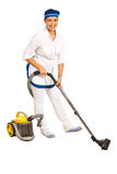 Maid with vacuum cleaner Stock Image