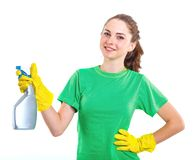 Maid woman. Royalty Free Stock Photo