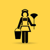 Maid woman vector icon Stock Photography