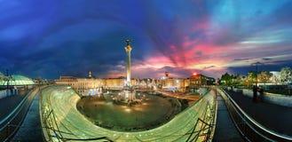 Maidan的夜视图 免版税图库摄影