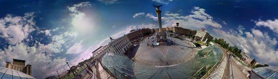 Maidan的白天看法 库存图片