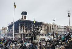 Maidan после прекращения огня столкновений Стоковое Фото