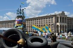 Maidan in der ukrainischen Hauptstadt Lizenzfreie Stockfotografie