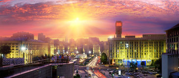 Maidan especially beautiful at night Royalty Free Stock Images