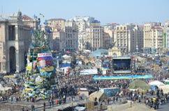 Maidan i den ukrainska huvudstaden Arkivbild