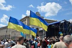 Maidan i den ukrainska huvudstaden Royaltyfri Fotografi