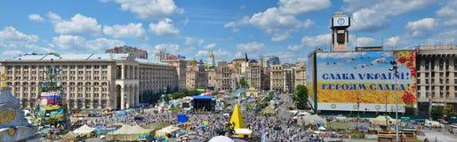 Maidan i den ukrainska huvudstaden Arkivfoto