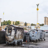 Maidan in Kiev in 2009. Before the military actions and unrest Stock Images