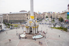Maidan in Kiev in 2009. Before the military actions and unrest Royalty Free Stock Photo