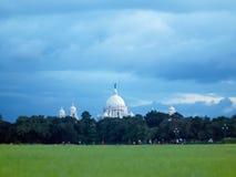 Maidan Kolkata en Victoria Memorial Stock Foto's