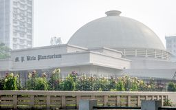 M.P.Birla Planetarium on a sunny morning at Kolkata, Calcutta, West Bengal royalty free stock photography