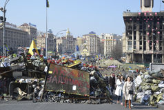 Maidan na capital ucraniana Foto de Stock