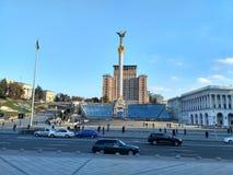 Maidan Nezalezhnosti基辅 库存照片