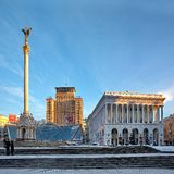 Maidan Nezalezhnosti Fotos de archivo libres de regalías