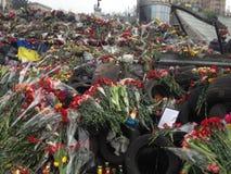 Maidan. Nezalezhnosti kiev revolution flowers Stock Photography