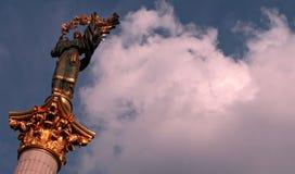 Maidan Nezalezhnosti, Kyiv, de hoofdstad van de Oekraïne Stock Foto
