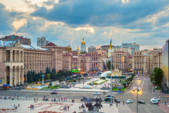 Maidan Nezalezhnosti Square, Kyiv, Ukraine Stock Photos