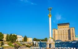 Maidan Nezalezhnosti (Unabhängigkeits-Quadrat) in Kyiv Lizenzfreie Stockfotos