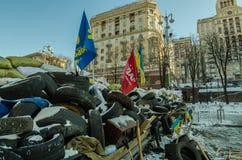 Maidan protesta el 31 de enero de 2014 en Kiev, Ucrania Fotografía de archivo libre de regalías