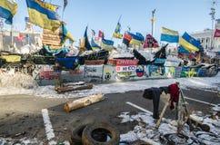 Maidan protesta el 31 de enero de 2014 en Kiev, Ucrania Imagen de archivo libre de regalías