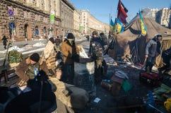 Maidan protesta el 31 de enero de 2014 en Kiev, Ucrania Imagenes de archivo
