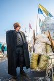 Maidan protesta el 31 de enero de 2014 en Kiev, Ucrania Foto de archivo