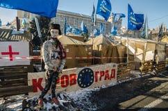 Maidan protesta el 31 de enero de 2014 en Kiev, Ucrania Imágenes de archivo libres de regalías