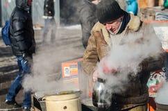 Maidan protesta el 31 de enero de 2014 en Kiev, Ucrania Imagen de archivo