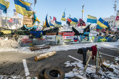 Maidan protests on 31 January 2014 in Kiev, Ukraine Royalty Free Stock Image