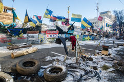 Maidan protests on 31 January 2014 in Kiev, Ukraine Royalty Free Stock Photography