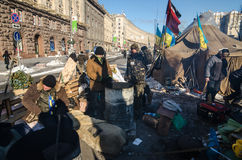Maidan protests on 31 January 2014 in Kiev, Ukraine Stock Images