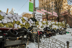 Maidan protests on 31 January 2014 in Kiev, Ukraine Stock Photography