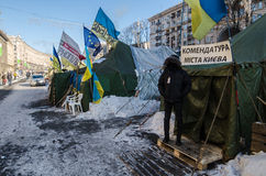 Maidan protests on 31 January 2014 in Kiev, Ukraine Stock Photos