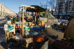 Maidan protests on 31 January 2014 in Kiev, Ukraine Royalty Free Stock Photo